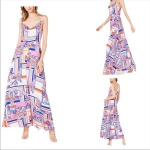 Foxiedox Kai Chiffon Multi Print Maxi Dress XS